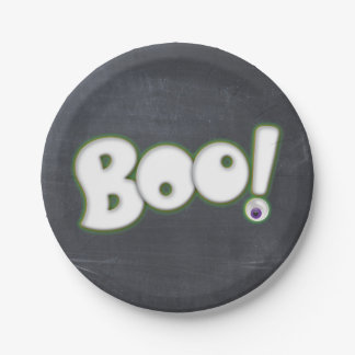 Bootiful Halloween Boo Lettering Chalk Adult Paper Plate