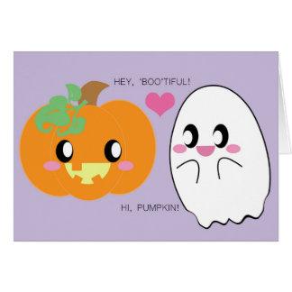 BOOtiful Pumpkin Love Greeting Card