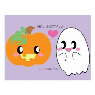 BOOtiful Pumpkin Love Postcard