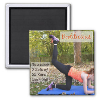 Bootilicious Exercise Insruction Magnet