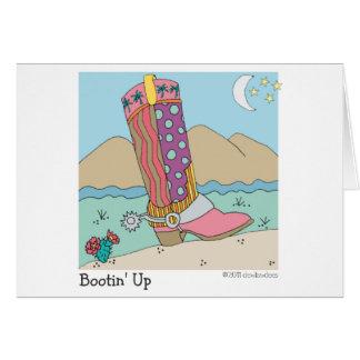 Bootin' Up Greeting Card