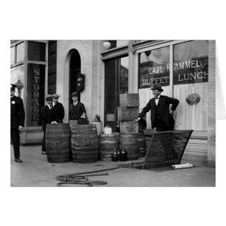 Bootleg Liquor Raid, 1923 Greeting Card