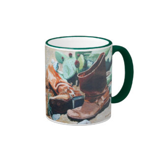 Boots and Cactus Ringer Coffee Mug