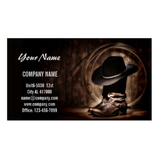 Boots and Cowboy Hat Business Card Templates