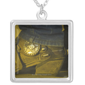 Boots and Spurs Silver Plated Necklace