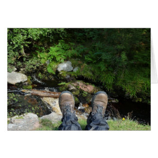 """Boots at Linhope Spout, Ingram Valley"" Card"