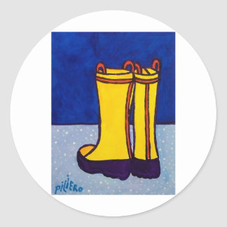 Boots by Piliero Classic Round Sticker