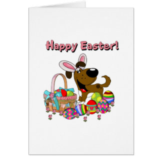 Boots has Easter Bunny Ears Greeting Card