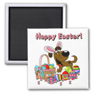 Boots has Easter Bunny Ears Square Magnet