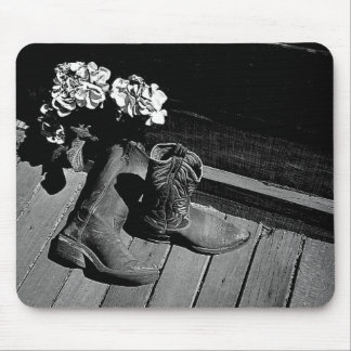 Boots n Flowers Mouse Pad