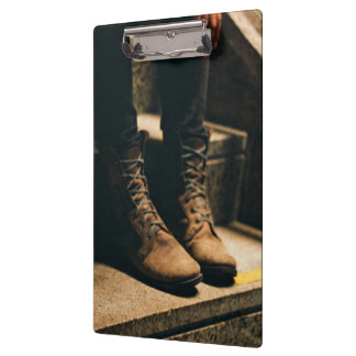 Boots on the step clipboards