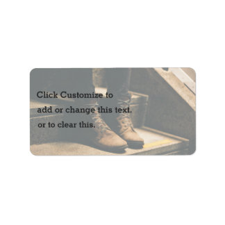 Boots on the step address label