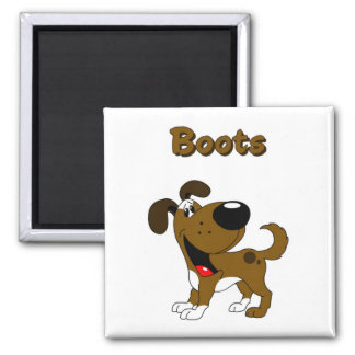 Boots Square Magnet