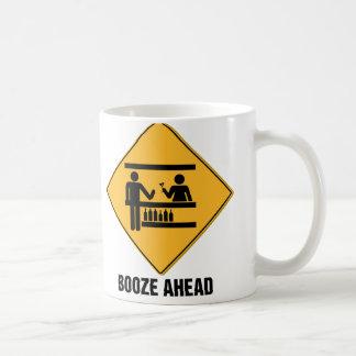 Booze Ahead Basic White Mug