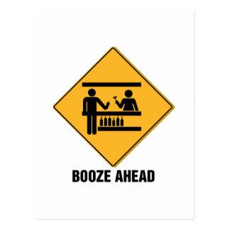 Booze Ahead Postcard