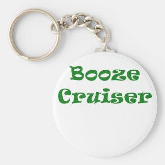 Booze Cruiser Basic Round Button Key Ring