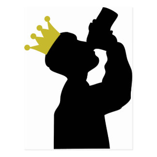 boozer king with crown icon postcard