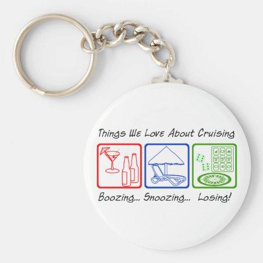 Boozing, Snoozing... Keychain