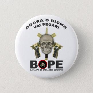 BOPE - Brazilian Police 6 Cm Round Badge