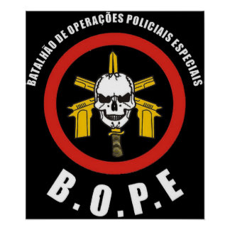 BOPE Tropa De Elite Brazilian Special Police Force Poster