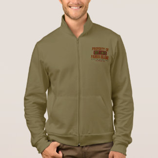 "BOPI ""Property Of Parris Island"" Fleece Zip Jogger Printed Jackets"