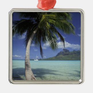 Bora Bora, French Polynesia Mt. Otemanu seen Christmas Ornament