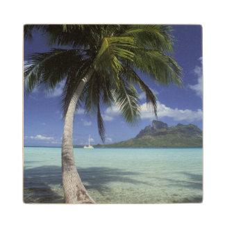 Bora Bora, French Polynesia Mt. Otemanu seen Wood Coaster