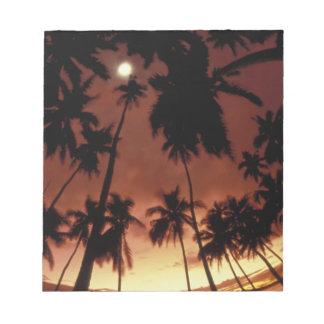 Bora Bora, French Polynesia Sunset shot through Notepads