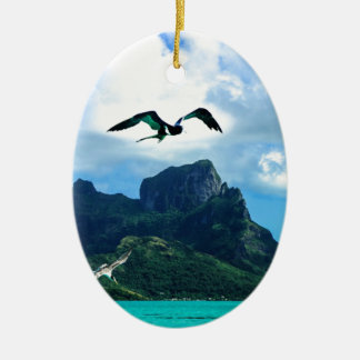 Bora Bora French Polynesia Tropical Bird Sky Christmas Ornament