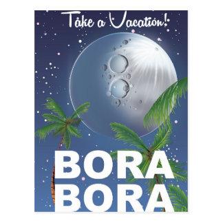 Bora Bora Moon Travel poster Postcard