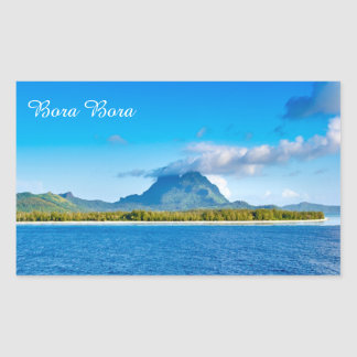 Bora Bora Postcard Rectangular Sticker