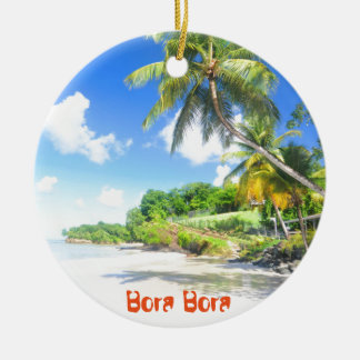 Bora Bora Round Ceramic Decoration
