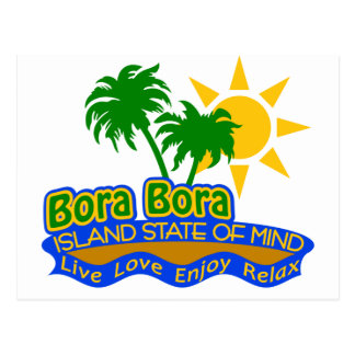 Bora Bora State of Mind postcard