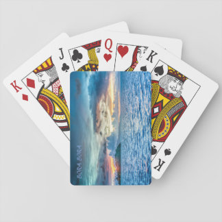 Bora Bora Sunset across the ocean Playing Cards