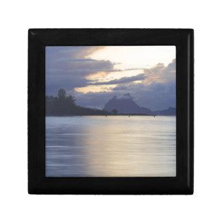 Bora Bora Sunset JPG Trinket Box