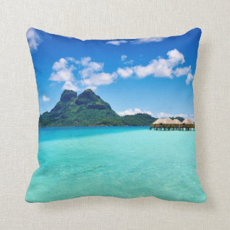 Bora Bora throw pillow