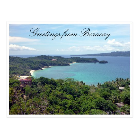 boracay island greetings postcard