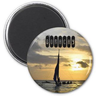 Boracay of Philippines 6 Cm Round Magnet
