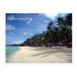 boracay palms beach postcard