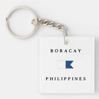 Boracay Philippines Alpha Dive Flag Key Ring