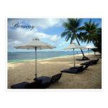 boracay sun lounges postcard