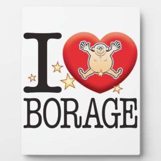 Borage Love Man Plaque