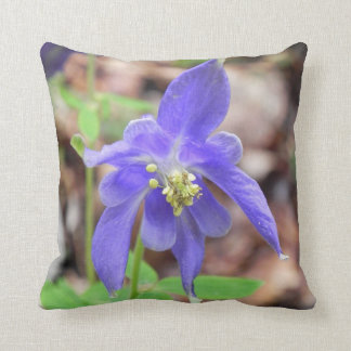 borago flower violet cushion
