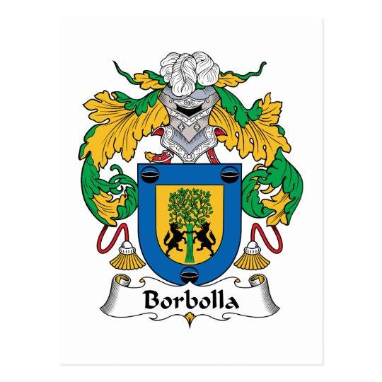 Borbolla Family Crest Postcard