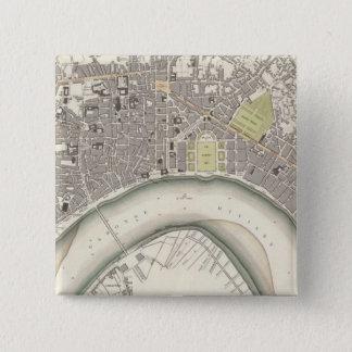 Bordeaux 15 Cm Square Badge