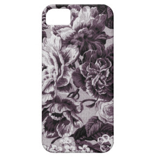 Bordeaux Red Vintage Floral Toile Fabric No.1 iPhone 5 Cover