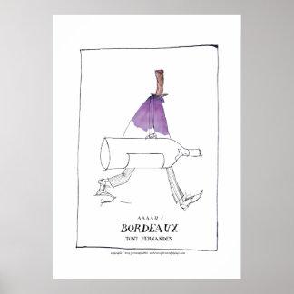 bordeaux wine man, tony fernandes poster