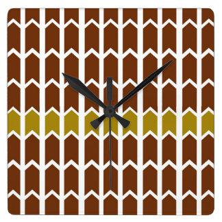 Border Brown Panel Fence Wallclocks