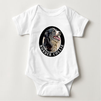 Border Collie 002 Baby Bodysuit