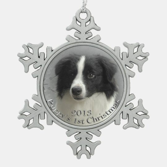 Border Collie 1st Christmas Ornament